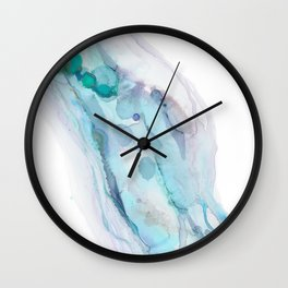 Fluorite Flow Wall Clock