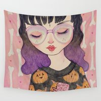 loll3 Wall Tapestries featuring Pumpkin by lOll3
