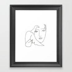 face - dove Framed Art Print