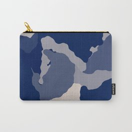 Blue Camo abstract Carry-All Pouch