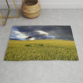 Moody Rural Landscape Rug