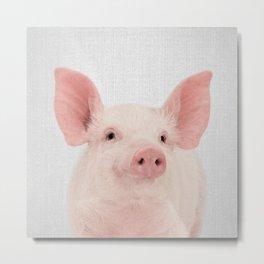 Pig - Colorful Metal Print