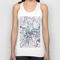 pittsburgh Tank Tops featuring Pittsburgh map by MapMapMaps.Watercolors