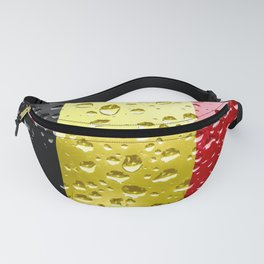 Flag of Belgium - Raindrops Fanny Pack