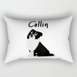 "Custom Dog Art ""Collin"" Rectangular Pillow"
