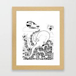 Octopus apocalypse Framed Art Print