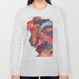 Carnival: a vibrant mixed media piece inspired by New Orleans Long Sleeve T-shirt