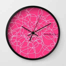 see beauty Wall Clock