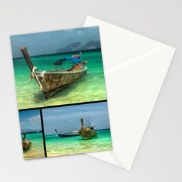 Wooden Thai Longboats Stationery Cards