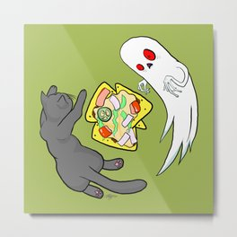 Nachos, Cats, and Ghosts Metal Print