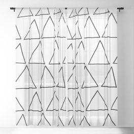 triangles at play Sheer Curtain