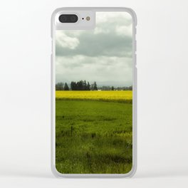 The Curve of a Mustard Crop Clear iPhone Case