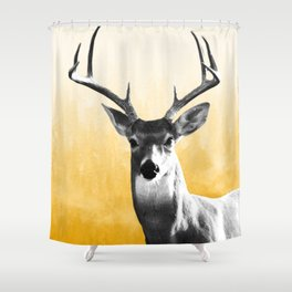 Deer Art Print Shower Curtain
