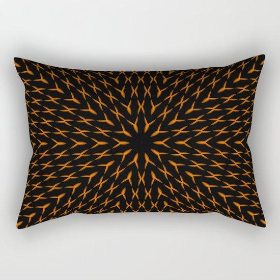 PCT2 Fractal in Orange on Black Rectangular Pillow