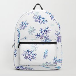 Snowflakes falling Backpack