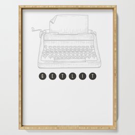 Get Lit with Typewriter Funny Meme Serving Tray