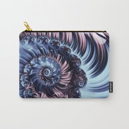 Purple Spiral Abstracts Carry-All Pouch