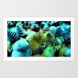Tiny Marine Trees Art Print