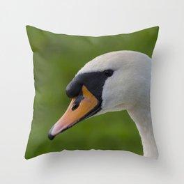Mute swan pen Throw Pillow