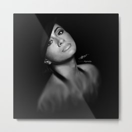 Ally Brooke Hernandez 'Reflection' Digital Painting Metal Print