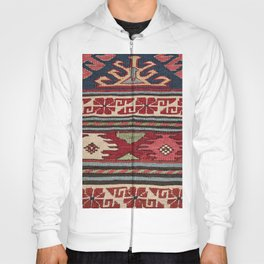 Yellow Red Star Fire Sumakh 19th Century Authentic Colorful Aztec Vibes Vintage Patterns Hoody