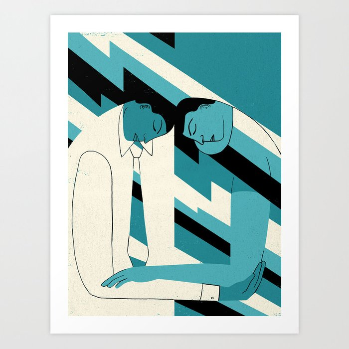 """How to Avoid Empathy Burnout"" by Hanna Barczyk for Nautilus Art Print"