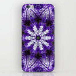Glowing Violet Star - Iris Stepping Out Kaleidoscope iPhone Skin