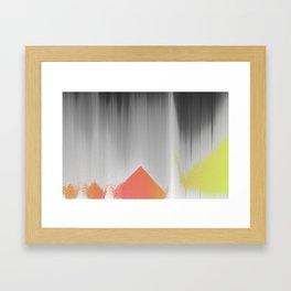 future_pyramids Framed Art Print