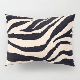 Zebra Animal Print Black and off White Pattern Pillow Sham