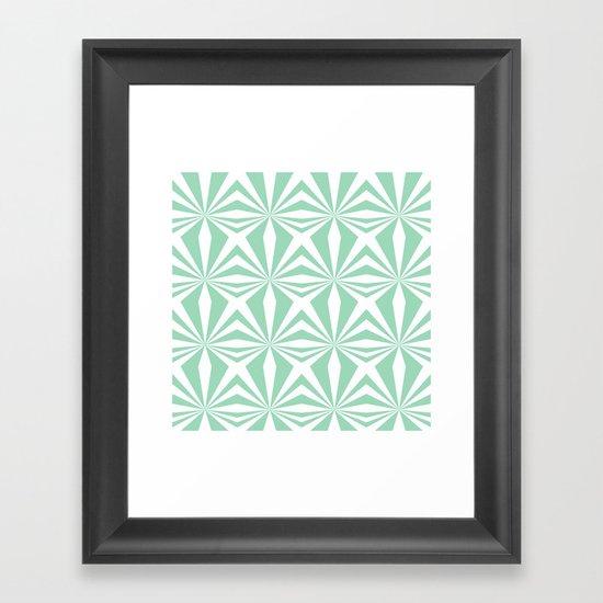 Mint Starburst #3 Framed Art Print