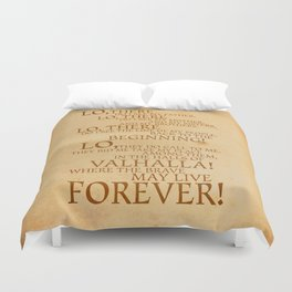 Viking Prayer Duvet Cover