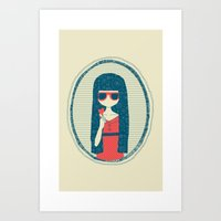 Lollipop girl Art Print