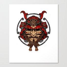 Samurai Mask, Budo, Bushido, Bujutsu, Musashi Canvas Print