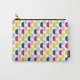 Pink, Blue & Yellow Trapezoids Carry-All Pouch