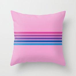 Rainbow on Pink Throw Pillow
