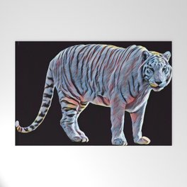 White Tiger Glow Welcome Mat