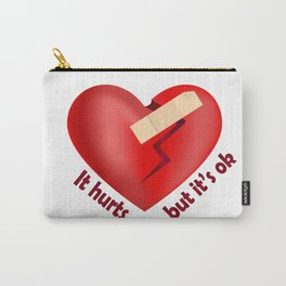 Broken heart patch Carry-All Pouch