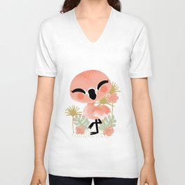 "The ""Animignons"" - the Flamingo Unisex V-Neck"