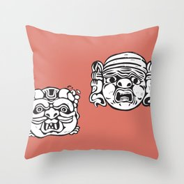 baroque masks from ACIREALE by Laura Pizzicalaluna  Throw Pillow