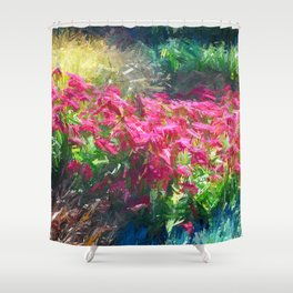 Vibrant Floral Painting Shower Curtain
