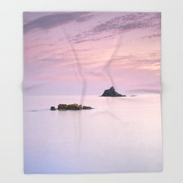 San Cristobal Reefs At Sunset . Throw Blanket