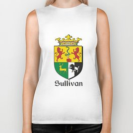 Family Crest - Sullivan - Coat of Arms Biker Tank