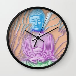 Glitch Buddha Wall Clock