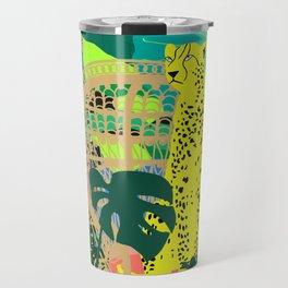 Maximalist Boho Jungle Travel Mug