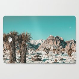 Vintage Lovers Cacti // Red Rock Canyon Mojave Nature Plants and Snow Desert in the Winter Cutting Board