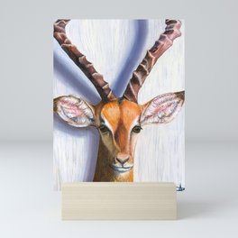 An Antelope's Stare Mini Art Print
