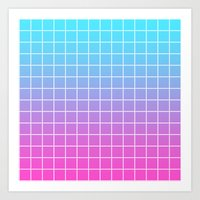 gradient Art Prints featuring Gradient by aesthetically