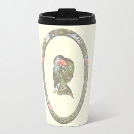 floral silhouette Travel Mug
