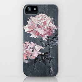 Roses on Grey iPhone Case
