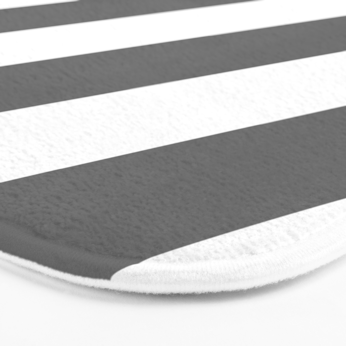 Gray diagonal striped pattern Bath Mat